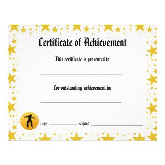Dance Certificate of Achievement - Stars Jazz Flyer Design