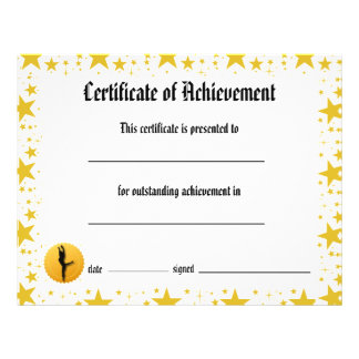 Dance Certificate of Achievement - Stars Lyrical Flyer