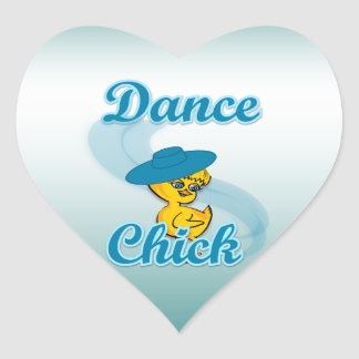 Dance Chick #3 Heart Stickers