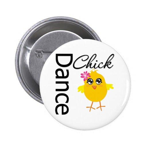 Dance Chick Pinback Button