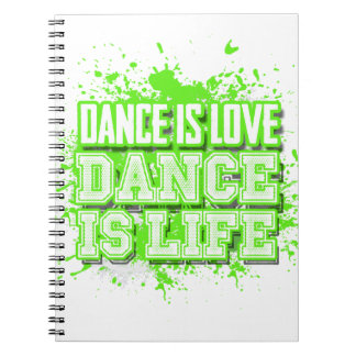 Dance Choreography Journal in Neon Green