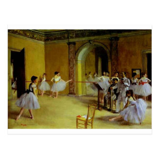 Dance Class at the Opera by Degas Postcard