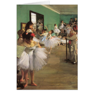 Dance Class by Degas, Vintage Impressionism Ballet Card