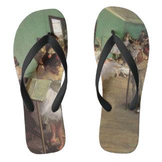 Dance Class by Degas, Vintage Impressionism Ballet Flip Flops