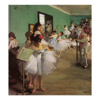 Dance Class by Degas, Vintage Impressionism Ballet Poster