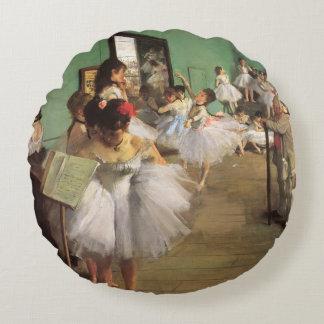 Dance Class, Degas, Vintage Impressionism Ballet Round Pillow