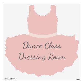 Dance Class Dressing Room Pink Ballet Tutu Wall Decal