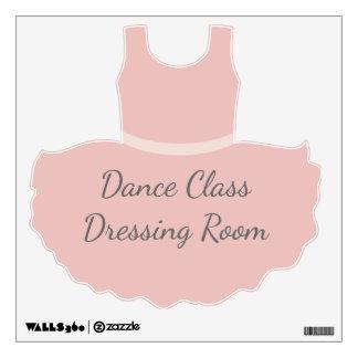 Dance Class Dressing Room Pink Ballet Tutu Wall Sticker