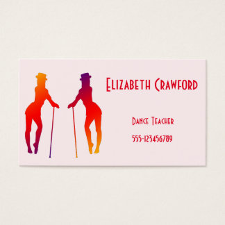 Dance Class or Teacher Colorful Business Card