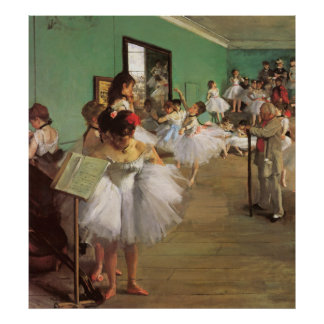 Dance Class - Vintage Ballet Painting - by Degas Poster