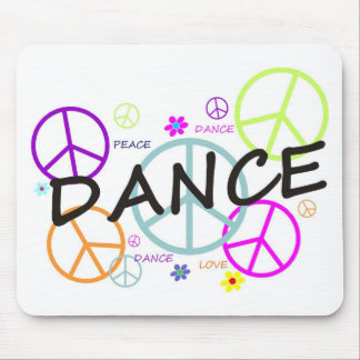 Dance Colored Peace Signs Mouse Pad