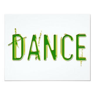 Dance colorful design! 4.25x5.5 paper invitation card