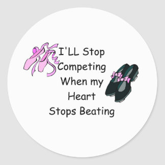Dance Competition Classic Round Sticker