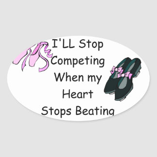 Dance Competition Oval Sticker
