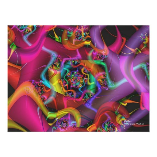 Dance cool cute abstract fine art fractal poster zazzle for Cute abstract art