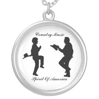 DANCE-COUNTRY MUSIC-NECKLACE SILVER PLATED NECKLACE