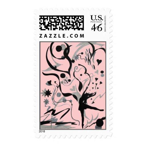 Dance Crazy! Postage Stamp