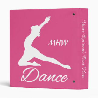 DANCE custom monogram & color binders