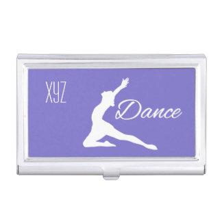 DANCE custom monogram & color business card holder
