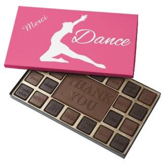 DANCE custom monogram & color chocolate box