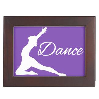 DANCE custom monogram & color keepsake box