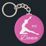 "DANCE custom monogram &amp; color key chains<br><div class=""desc"">Change the text field to what you want. You can also change the font and its size, color and location by using the &quot;Customize it&quot; function, as well as add more text fields if you wish. Further, you can edit the background color of this item to whatever color you want....</div>"