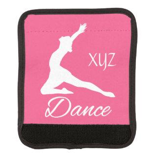 DANCE custom monogram & color luggage handle wrap