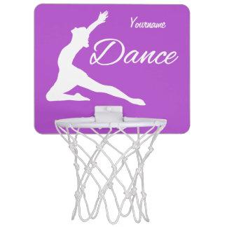 DANCE custom monogram & color mini hoop Mini Basketball Backboard