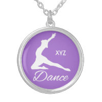 DANCE custom monogram & color necklace