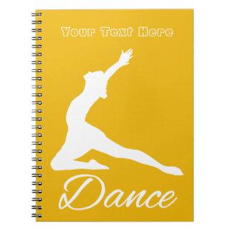 DANCE custom monogram & color notebook