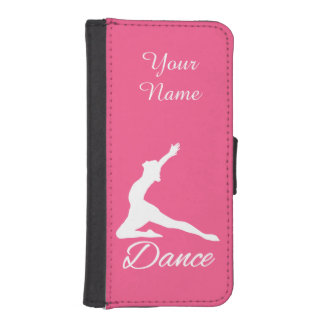 DANCE custom monogram & color phone wallet