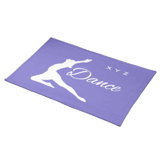 DANCE custom monogram & color placemats