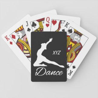 DANCE custom monogram & color playing cards