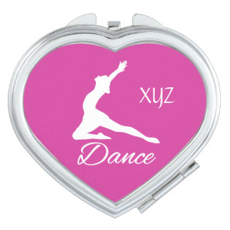 DANCE custom monogram & color pocket mirror