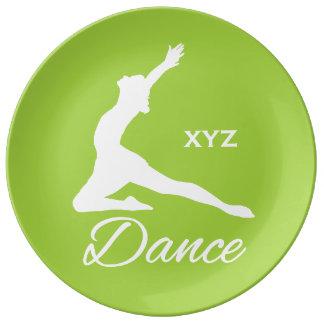 DANCE custom monogram & color porcelain plate