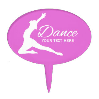 DANCE custom text & color cake topper