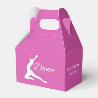 DANCE custom text & color favor boxes