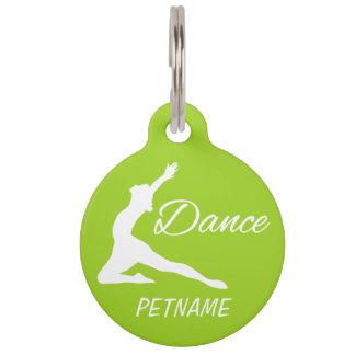DANCE custom text & color pet tags