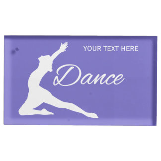DANCE custom text & color table card holder