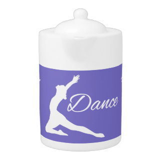DANCE custom text & color teapot