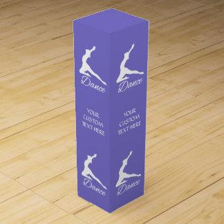 DANCE custom text & color wine box