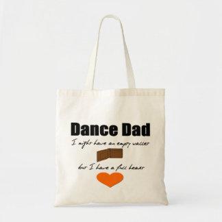 Dance Dad- Empty Wallet, Full Heart Tote Bags