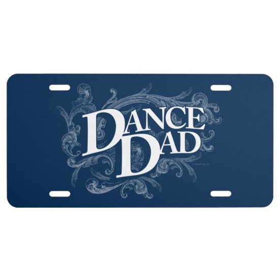 Dance Dad License Plate