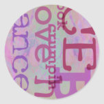Dance Dance Dance Classic Round Sticker