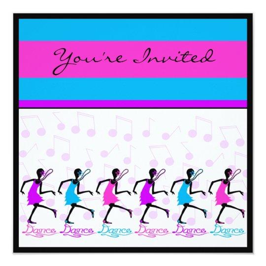 dance dance dance invitation template