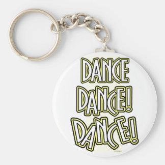 Dance Dance DANCE! keychain in yellow