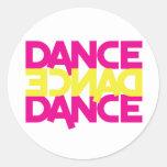 dance dance dance round stickers
