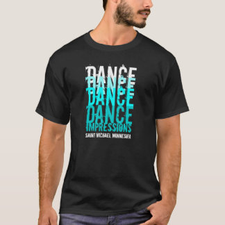 DANCE DANCE...IMPRESSIONS Black/Teal T-Shirt