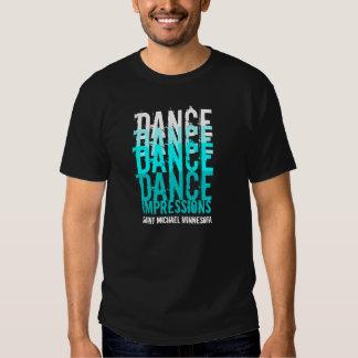 DANCE DANCE...IMPRESSIONS Black/Teal Tee Shirts