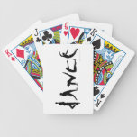 Dance Dancers Silhouettes Custom Playing Cards